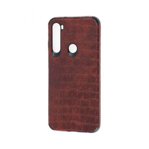Чехол для Xiaomi Redmi Note 8 Epic Vivi Crocodile-Dark Brown