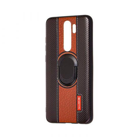 Чехол для Xiaomi Redmi Note 8 Pro Dlons с кольцом-Black/Brown
