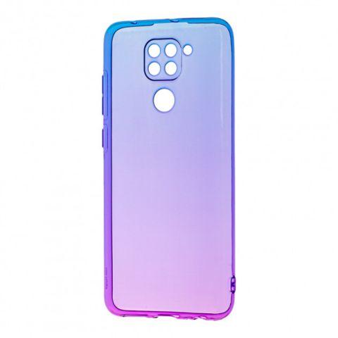 Силиконовый чехол для Xiaomi Redmi Note 9 Gradient Design-Violet/Blue