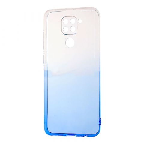 Силиконовый чехол для Xiaomi Redmi Note 9 Gradient Design-White/Blue