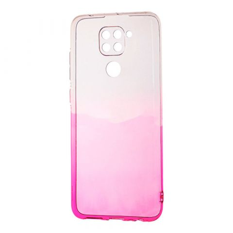 Силиконовый чехол для Xiaomi Redmi Note 9 Gradient Design-Pink/White