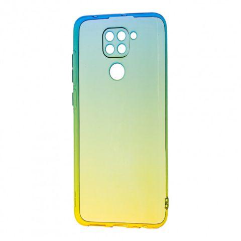 Силиконовый чехол для Xiaomi Redmi Note 9 Gradient Design-Yellow/Green