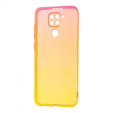 Силиконовый чехол для Xiaomi Redmi Note 9 Gradient Design-Red/Yellow