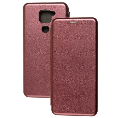 Чехол-книжка для Xiaomi Redmi Note 9 Premium-Bordo