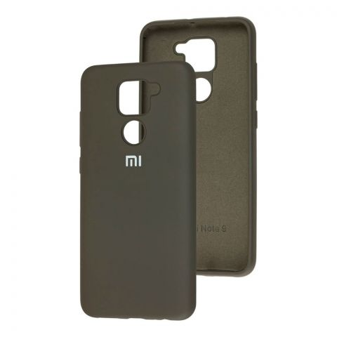 Чехол для Xiaomi Redmi Note 9 Silicone Full-Dark Olive