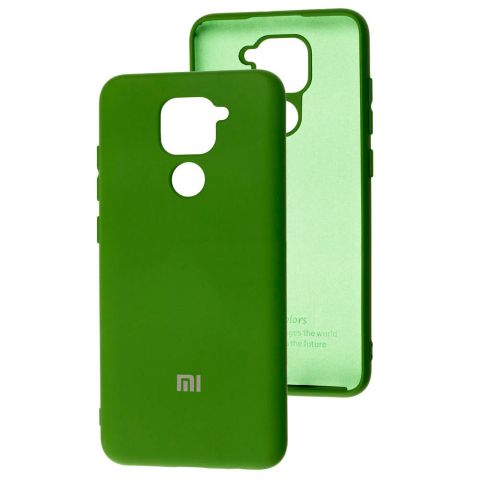 Чехол для Xiaomi Redmi Note 9 Silicone Full-Forest Green