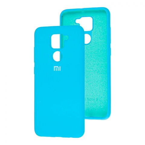 Чехол для Xiaomi Redmi Note 9 Silicone Full-Light Blue