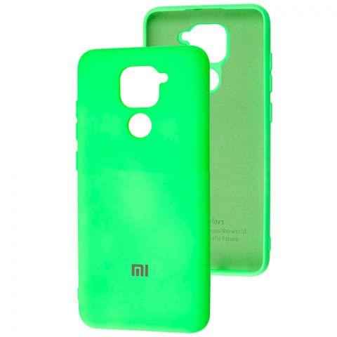 Чехол для Xiaomi Redmi Note 9 Silicone Full-Light Green