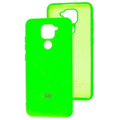 Чехол для Xiaomi Redmi Note 9 Silicone Full-Lime