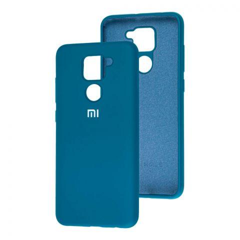 Чехол для Xiaomi Redmi Note 9 Silicone Full-Ocean Blue