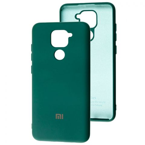 Чехол для Xiaomi Redmi Note 9 Silicone Full-Pine Green