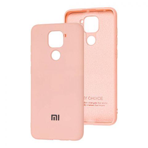 Чехол для Xiaomi Redmi Note 9 Silicone Full-Pink Sand