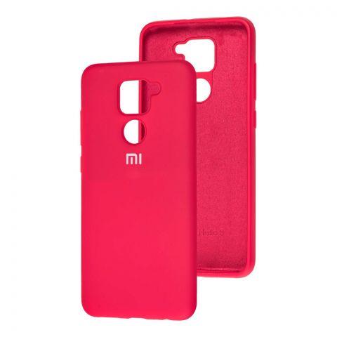 Чехол для Xiaomi Redmi Note 9 Silicone Full-Red Raspberry
