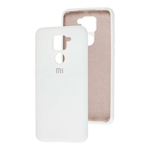 Чехол для Xiaomi Redmi Note 9 Silicone Full-White