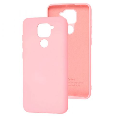 Чехол для Xiaomi Redmi Note 9 Silicone Full without Logo-Light Pink