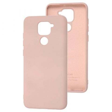 Чехол для Xiaomi Redmi Note 9 Silicone Full without Logo-Pink Sand