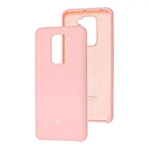 Силиконовый чехол для Xiaomi Redmi Note 9 Soft Touch Silicone Cover-Pink Sand