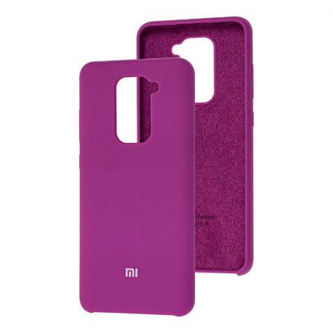 Силиконовый чехол для Xiaomi Redmi Note 9 Soft Touch Silicone Cover-Purple