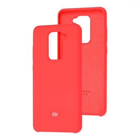 Силиконовый чехол для Xiaomi Redmi Note 9 Soft Touch Silicone Cover-Red Raspberry
