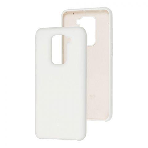 Силиконовый чехол для Xiaomi Redmi Note 9 Soft Touch Silicone Cover-White