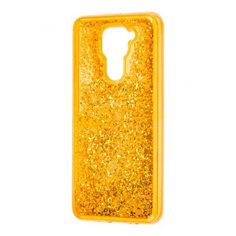 Чехол с блестками для Xiaomi Redmi Note 9 Sparkle Glitter-Gold