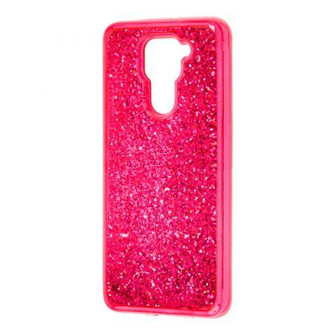 Чехол с блестками для Xiaomi Redmi Note 9 Sparkle Glitter-Red Raspberry