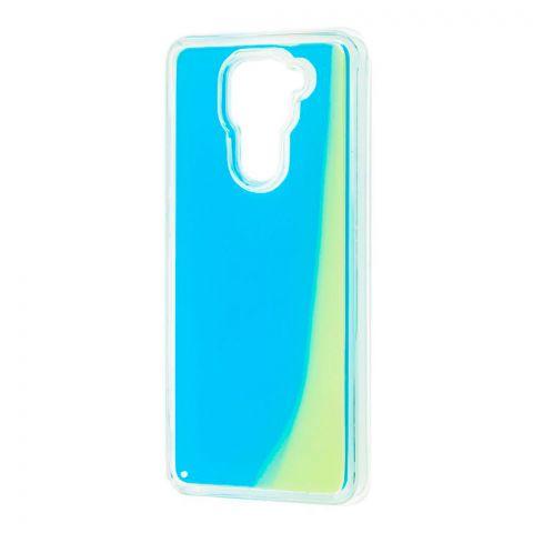 Чехол для Xiaomi Redmi Note 9 Жидкий Песок-Light Blue