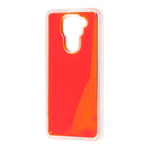 Чехол для Xiaomi Redmi Note 9 Жидкий Песок-Orange