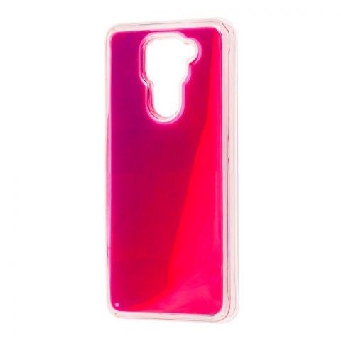 Чехол для Xiaomi Redmi Note 9 Жидкий Песок-Violet