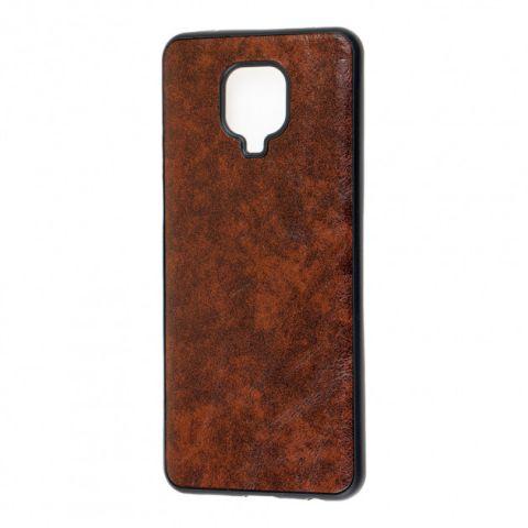 Чехол для Xiaomi Redmi Note 9S / 9 Pro / 9 Pro Max Lava case-Dark Brown