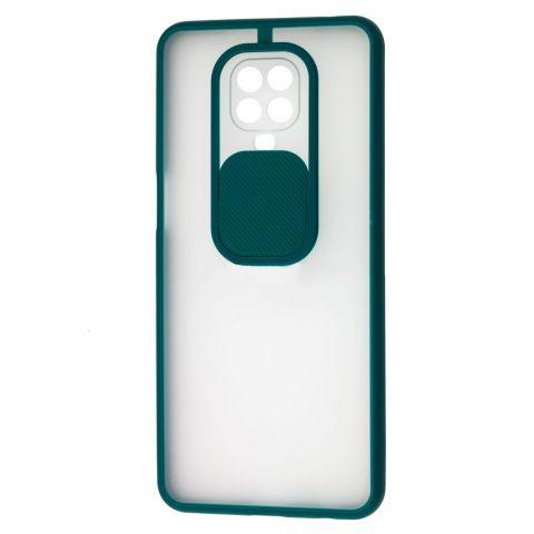 Чехол для Xiaomi Redmi Note 9S / 9 Pro / 9 Pro Max LikGus Camshield (с защитой камеры)-Dark Olive