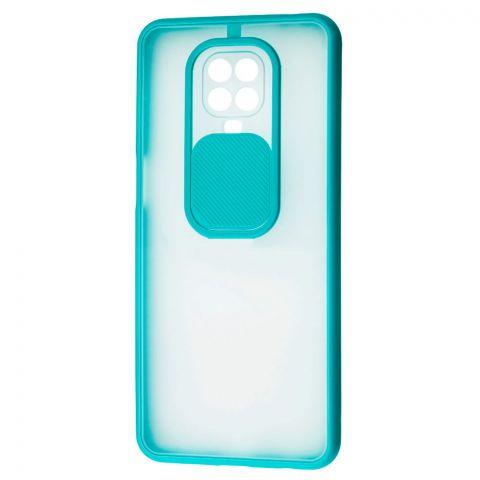 Чехол для Xiaomi Redmi Note 9S / 9 Pro / 9 Pro Max LikGus Camshield (с защитой камеры)-Turquoise