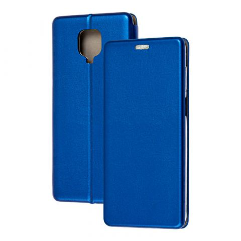 Чехол-книжка для Xiaomi Redmi Note 9S / 9 Pro / 9 Pro Max Premium-Blue