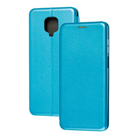 Чехол-книжка для Xiaomi Redmi Note 9S / 9 Pro / 9 Pro Max Premium-Light Blue