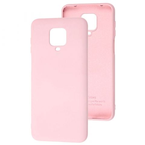 Чехол для Xiaomi Redmi Note 9S / 9 Pro / 9 Pro Max Silicone Full without Logo-Light Pink