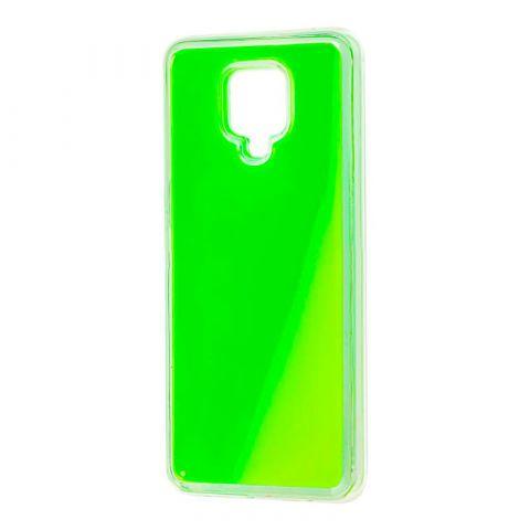 Чехол для Xiaomi Redmi Note 9S / 9 Pro / 9 Pro Max Жидкий Песок-Green