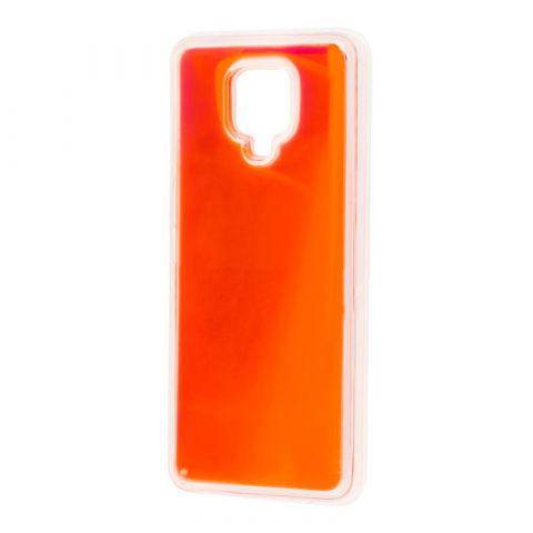 Чехол для Xiaomi Redmi Note 9S / 9 Pro / 9 Pro Max Жидкий Песок-Orange