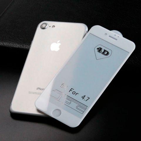 Защитное 3D стекло для iPhone 6/6S White