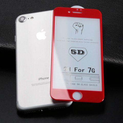 Защитное 3D стекло для iPhone 7 Plus/8 Plus Red