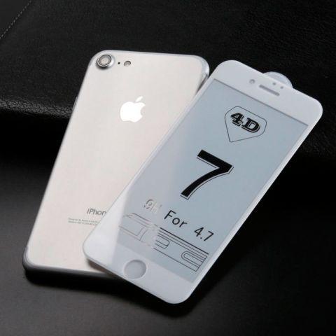 Защитное 3D стекло для iPhone 7/8 White