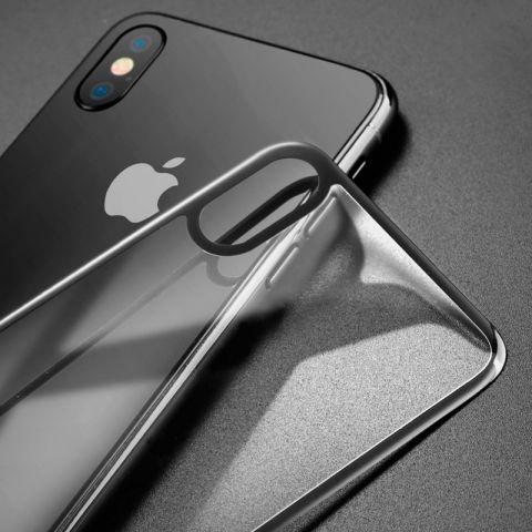 Защитное 3D стекло на заднюю панель iPhone X/XS Black