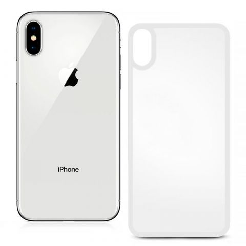 Защитное 3D стекло на заднюю панель iPhone X/XS White