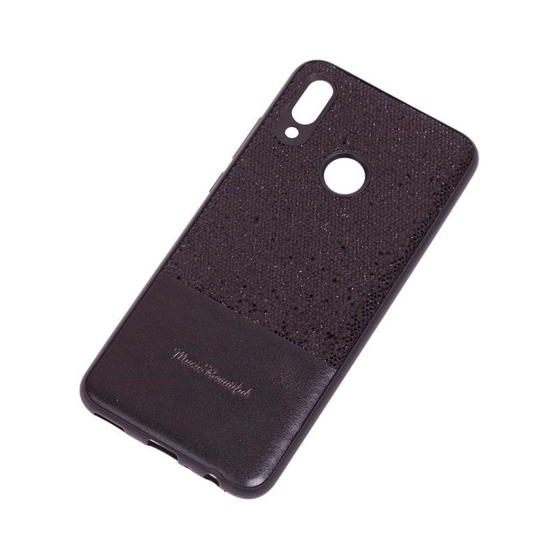 Чехол на Huawei P Smart 2019 Leather с блестками фото