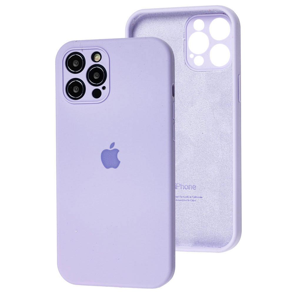 Силиконовый чехол для iPhone 12 / 12 Pro Silicone Case Full с защитой камеры фото 1