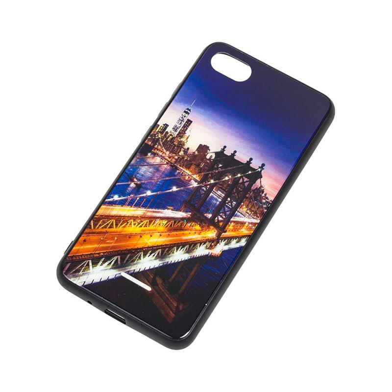 Чехол для Xiaomi Redmi 6A Glass New (город) фото 2