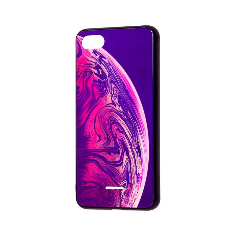 Чехол для Xiaomi Redmi 6A Glass New (планета) фото 1