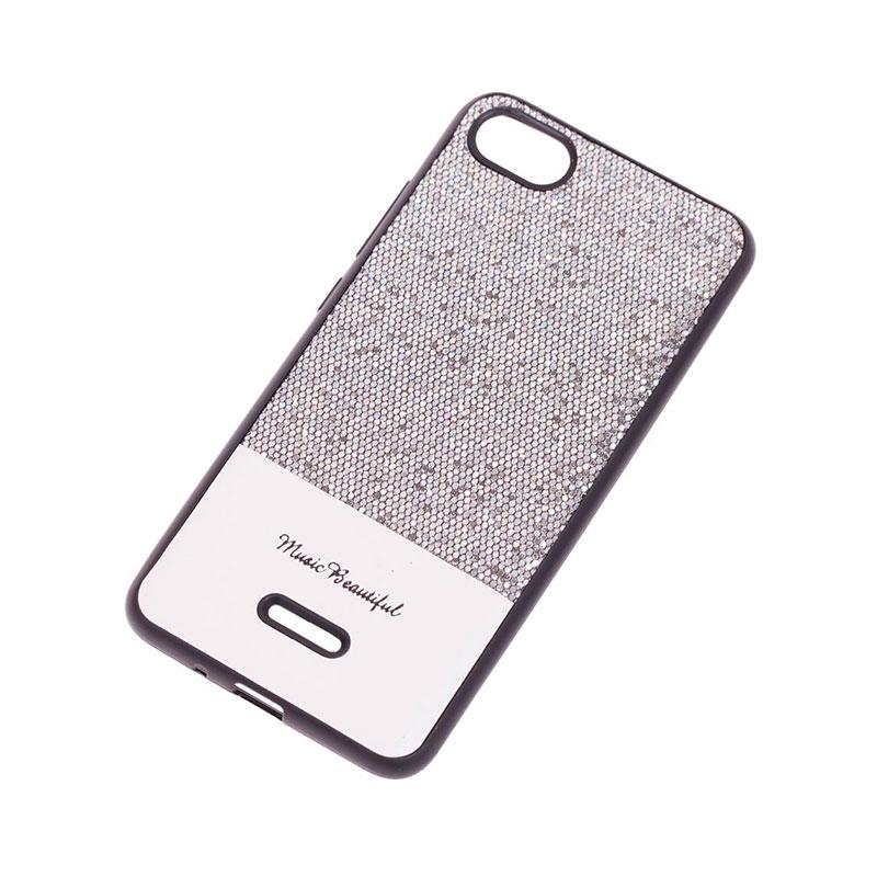 Чехол для Xiaomi Redmi 6A Leather с блестками фото 2