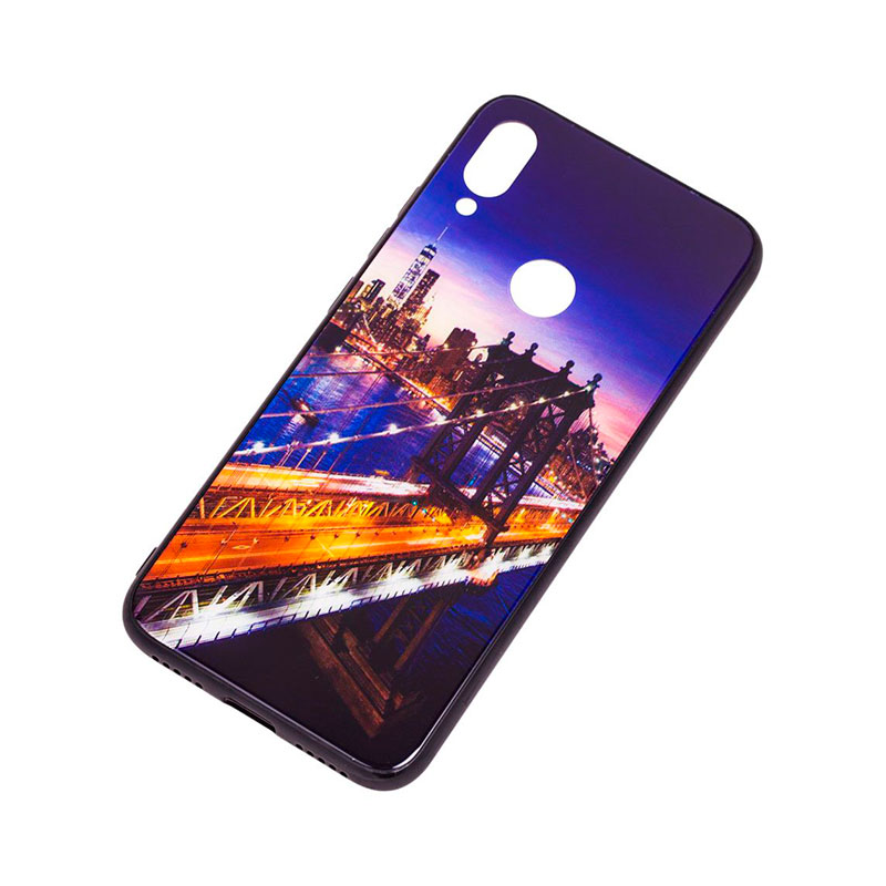 Чехол для Xiaomi Redmi Note 7 Glass New (город) фото 2