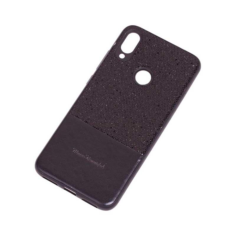 Чехол для Xiaomi Redmi Note 7 Leather с блестками фото 2