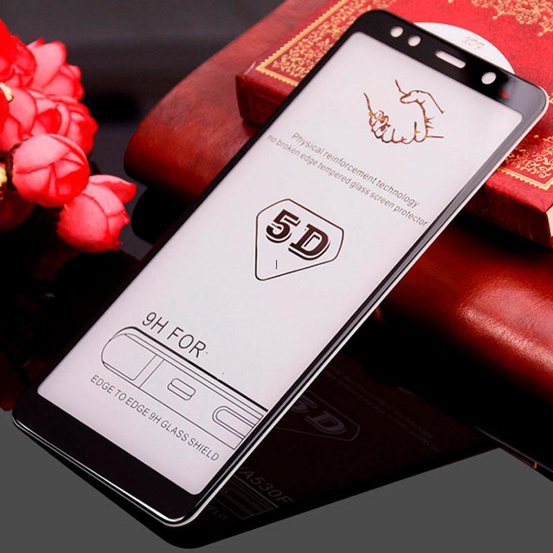 Защитное стекло 5D Samsung Galaxy A7 2018 (A750) Full Glue фото